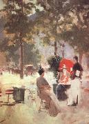 Konstantin Korovin Paris Cafe (nn02) oil painting artist